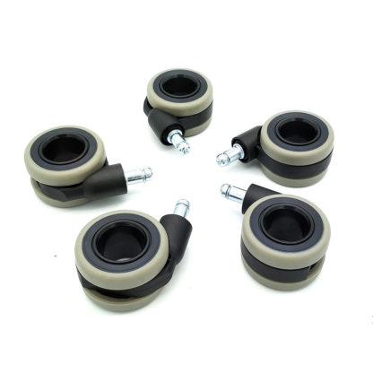 купить ролики колеса колесики прорезиненные 60 мм для кресла руководителя