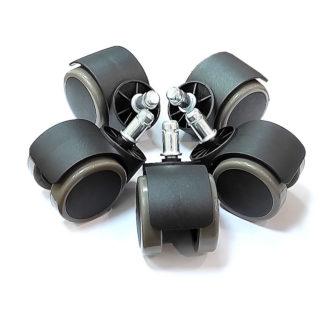прорезиненные ролики колеса для кресла набор купить